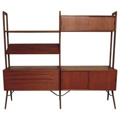 Kurt Ostervig Freestanding Teak Wall Unit