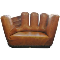 Early 20th century art deco sofa loveseat for sale at 1stdibs Baseball sofa