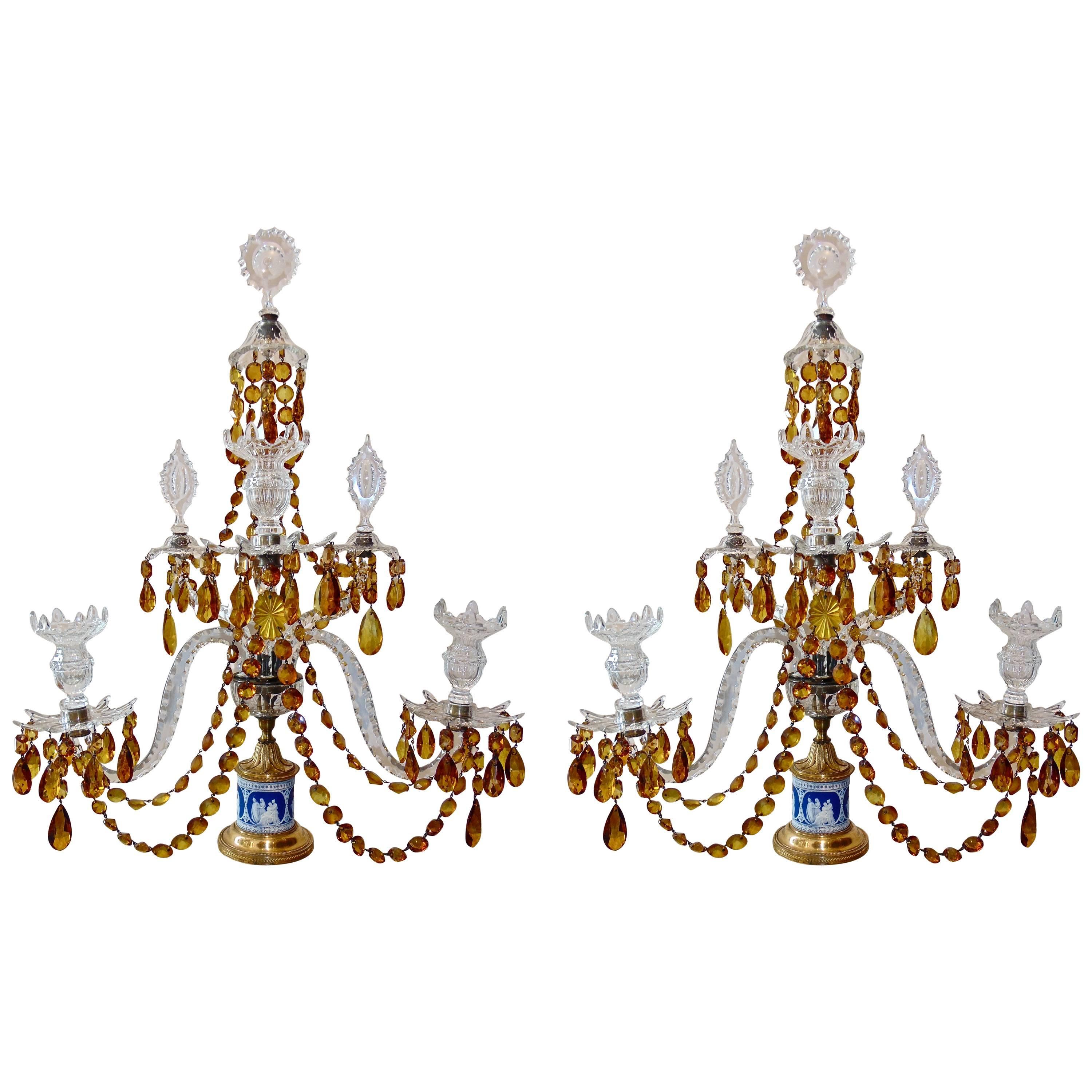 antique chandelier and gasolier bohemian glass crystal cut gilt images