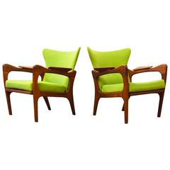 Pair of Adrian Pearsall Sculptural Lounge Chairs