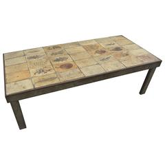 Garrigue Tile Coffee Table by Roger Capron