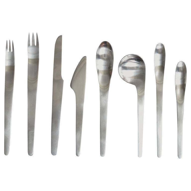 Arne jacobsen for a michelsen stainless flatware service for eight at 1stdibs - Arne jacobsen flatware ...