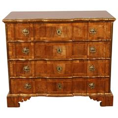 Danish Rococo chest of drawers with key