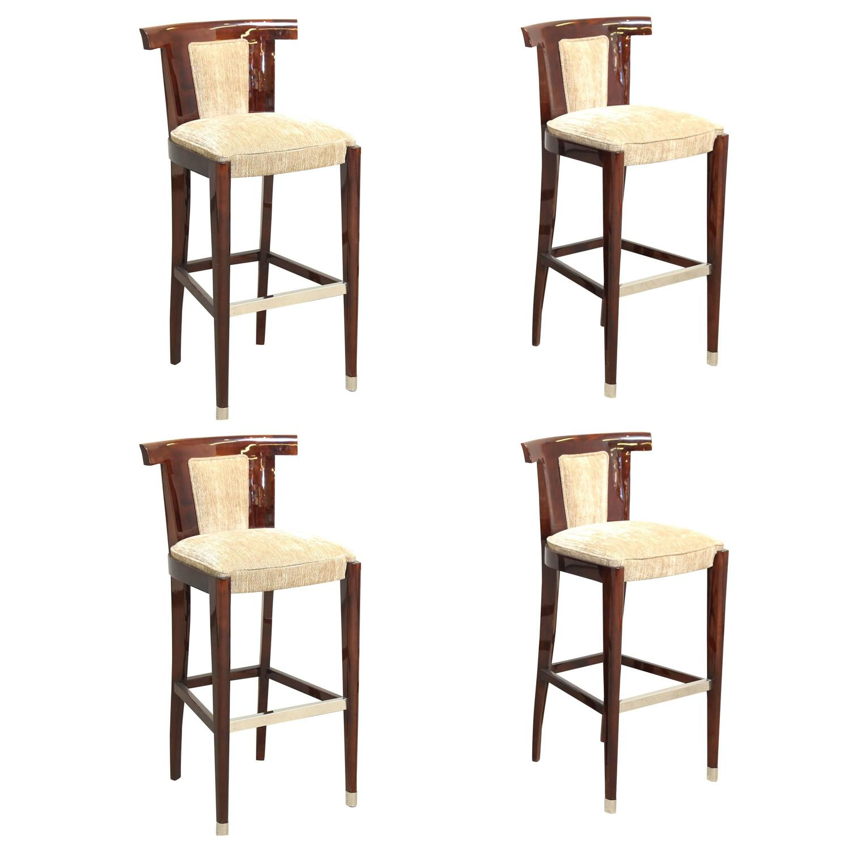 Four art deco bar stools at 1stdibs for Art deco bar furniture