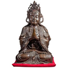 Chinese Bronze Sculpture of a Seated Buddha
