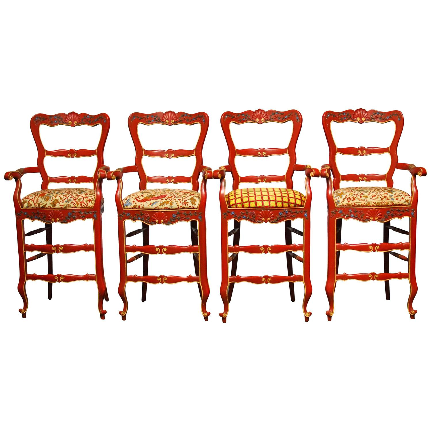 Carved French Country Bar Stools At 1stdibs