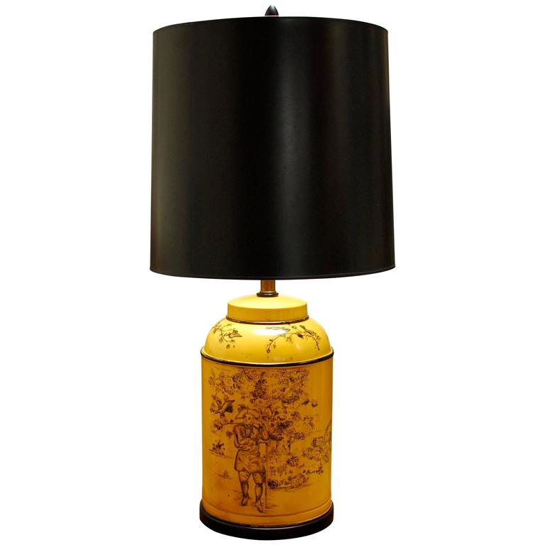French Tea Canister Tole Lamp