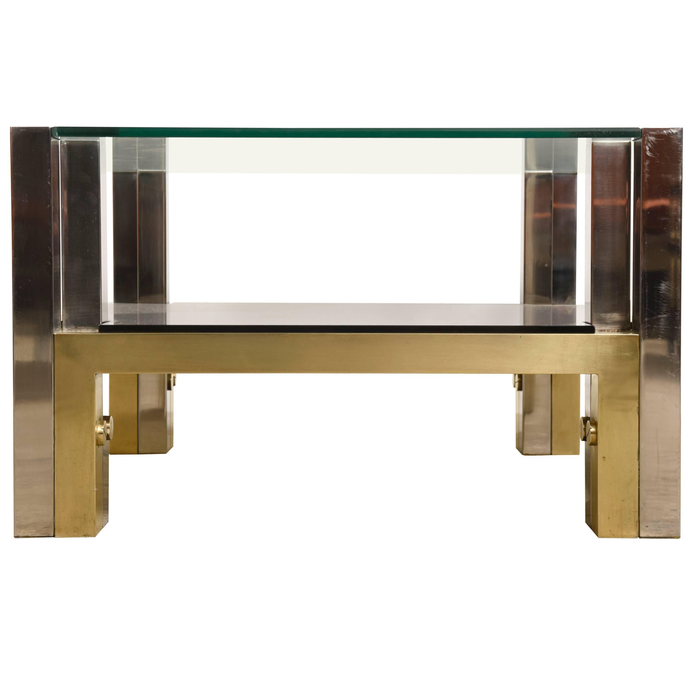 Maison Jansen Bronze Coffee Table by Alfredo Freda for Cittone Oggi, 1970s