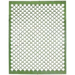 19th Century Green Painted Metal Screen, Architectural Element