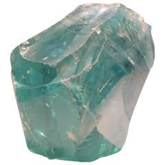 Massive Chunk of Old Factory Aqua Glass Cullet