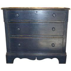 Blue Three-Drawer Dresser