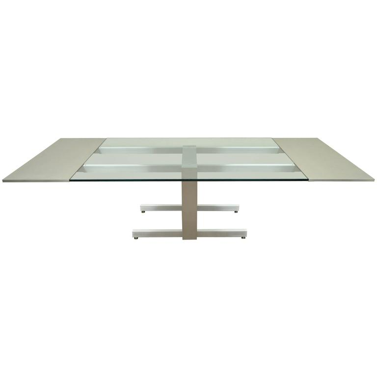 Vladimir Kagan Design Brushed Aluminum Dining or Conference Table