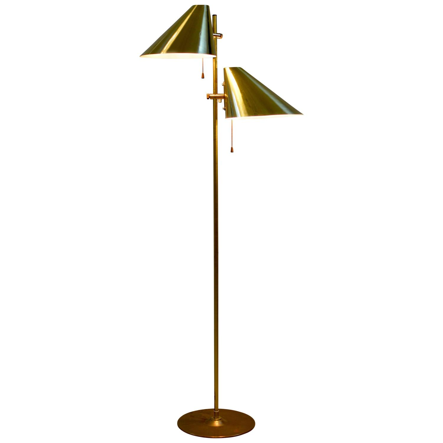 Hans agne jakobsson double shade floor lamp at 1stdibs audiocablefo