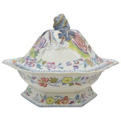 English Mason's Ironstone Tall Covered Dish