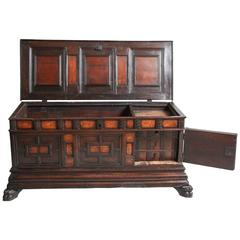 17th Century Spanish Walnut Marriage Chest