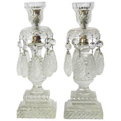 Large Pair of Early 19th Century Anglo Irish Candlesticks