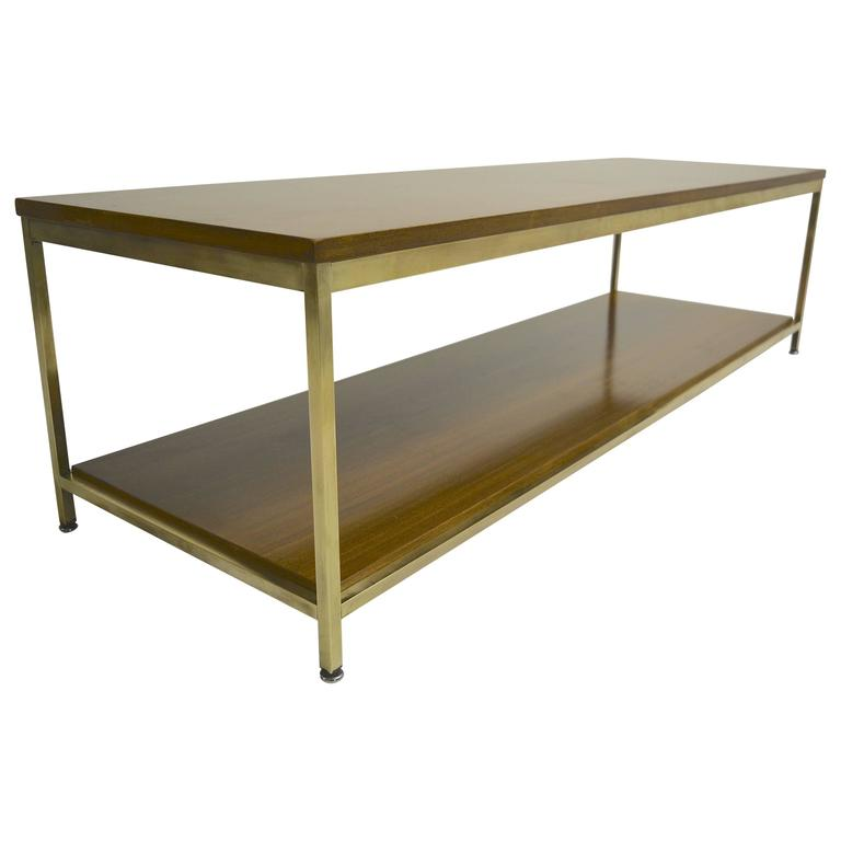 Large Brass Coffee Table By Paul McCobb For Calvin For