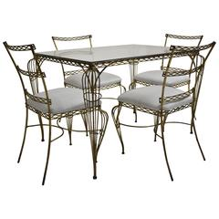 French, Gold Leafed Iron Dining Set, circa 1950s