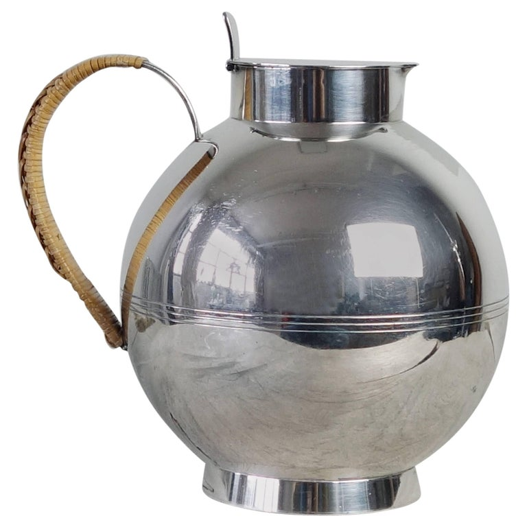 Sylvia Stave silver decanter, ca. 1930, offered by Lawton Mull