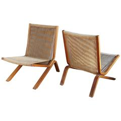 Pair of String Chairs by Allan Gould