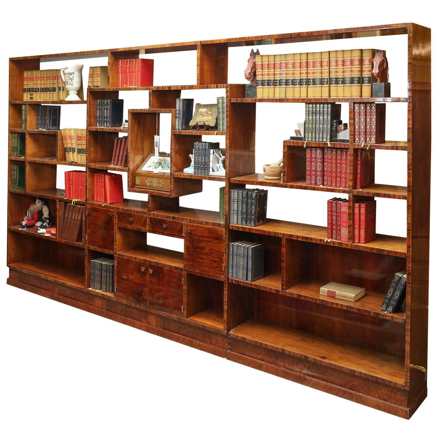 Art deco bookcase room divider at 1stdibs - Bookshelves as room divider ...