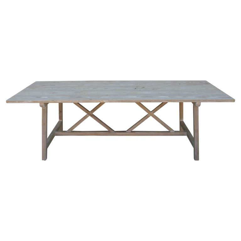 Farm or Harvest Table in Vintage Pine, Custom Made by Petersen Antiques