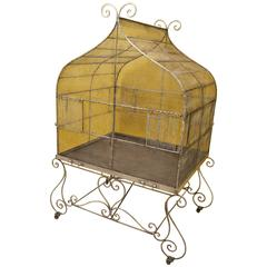 Jurassic Size 19th Century French Bird Cage