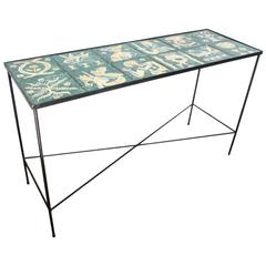 Mid-Century Italian Ceramic Table by Ugo Lucerni