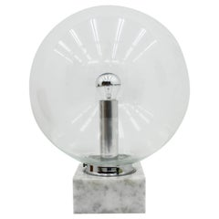 Glass and Marble Table Lamp by Erco, 1970s