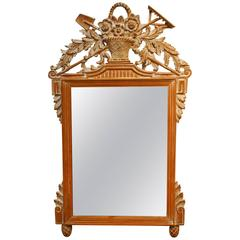 Louis XVI French Style Carved Wall Mirror