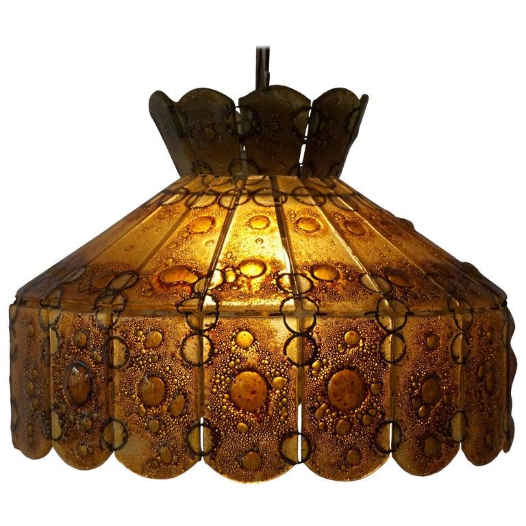 Italian Glass Pendant Light For Sale
