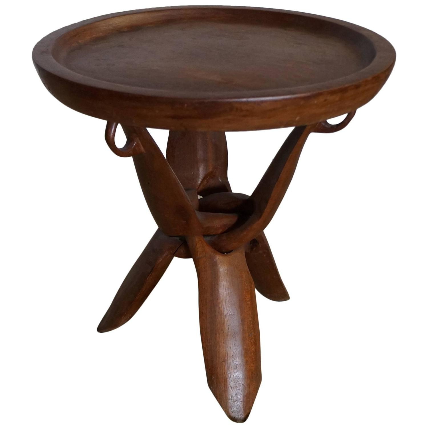 African Side Table For Sale At 1stdibs