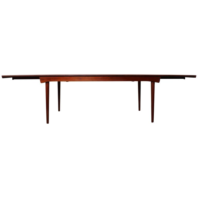 Solid Teak Dining Table Designed by Finn Juhl For Sale
