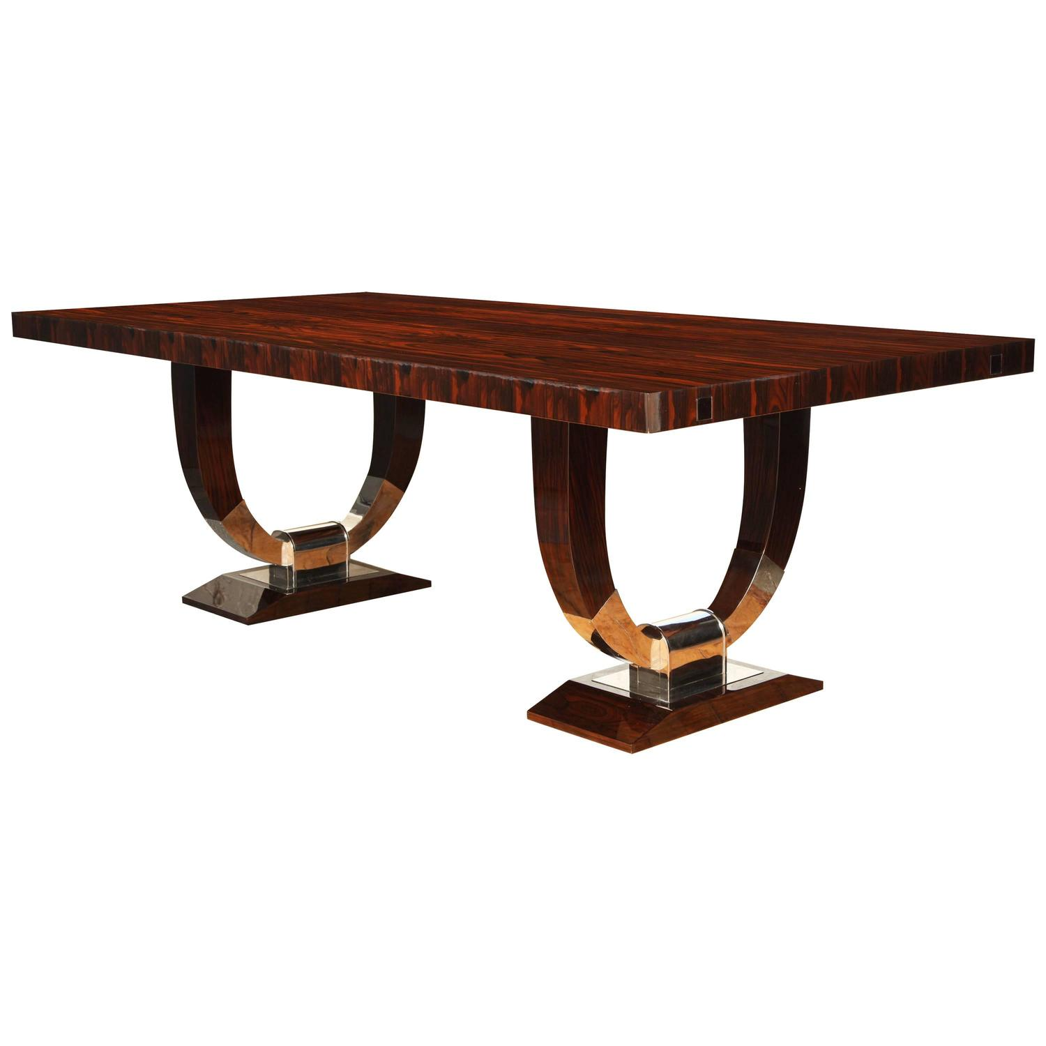 Elegant art deco dining table at 1stdibs for Art dining room furniture