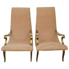 Roberto & Mito Block, Two 'Miguelitos,' Mexico Mid-Century, Lounge Chairs