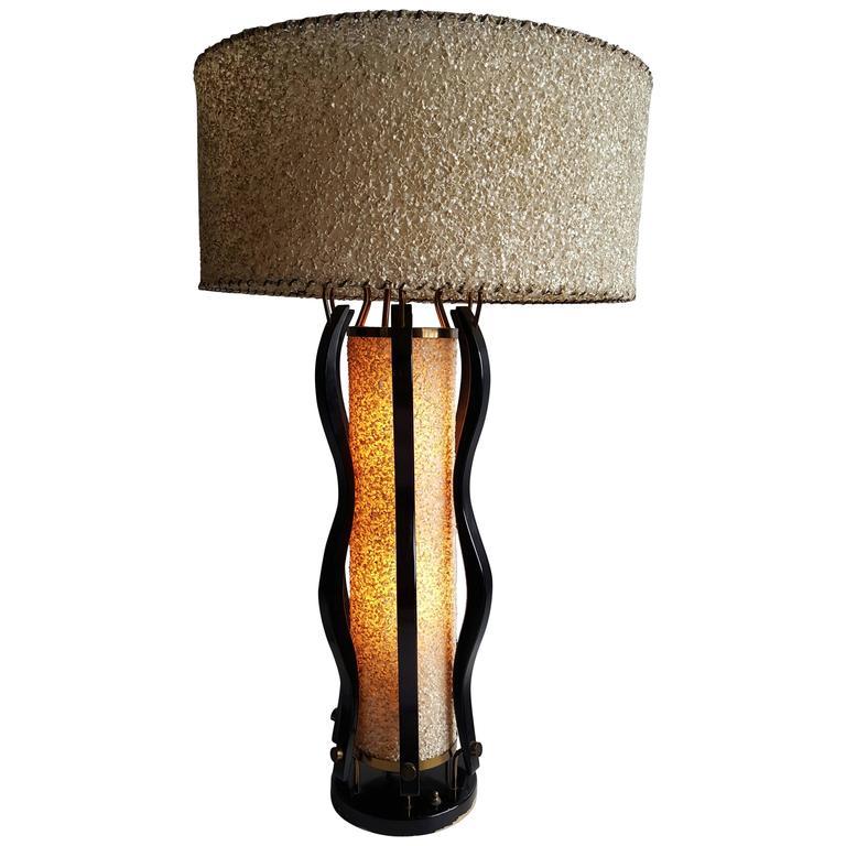 Large Mid-Century Modern Majestic Table Lamp