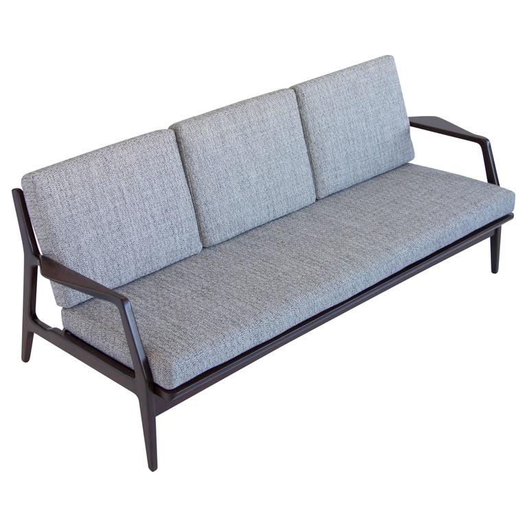 Danish Modern Ib Kofod Larsen Sofa For Selig At 1stdibs