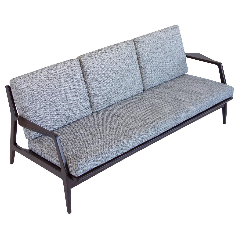 Danish Modern Ib Kofod Larsen Sofa for Selig at 1stdibs
