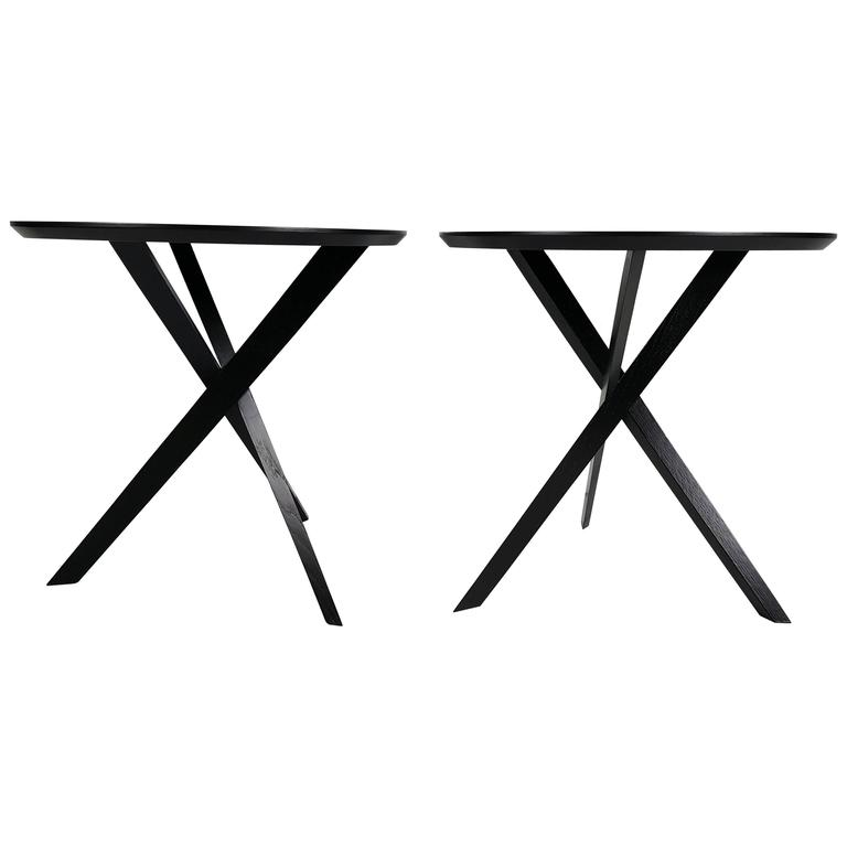 "Modernist ""X"" Base Table Designed by James Irvine for Articolo For Sale"
