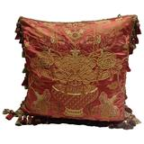 Embroidered Pillows, Scalamandre Fabric