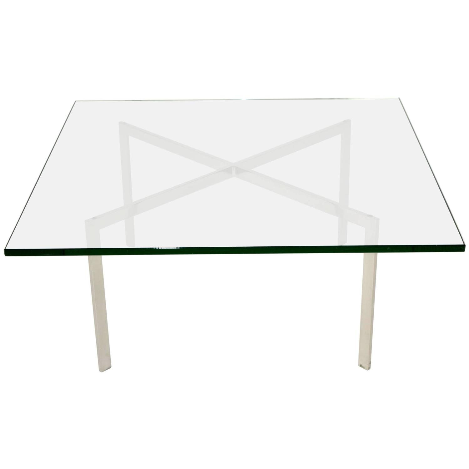 Barcelona Table By Mies Van Der Rohe For Knoll At 1stdibs