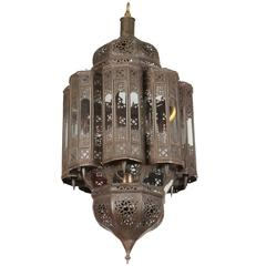 Moroccan Moorish Hand-Crafted Mamounia Light Fixture Clear Glass