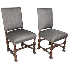 Pair of 19th c Italian Side Chairs