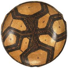 Early 20th Century Kabylie Algeria Berber Ceramic Platter