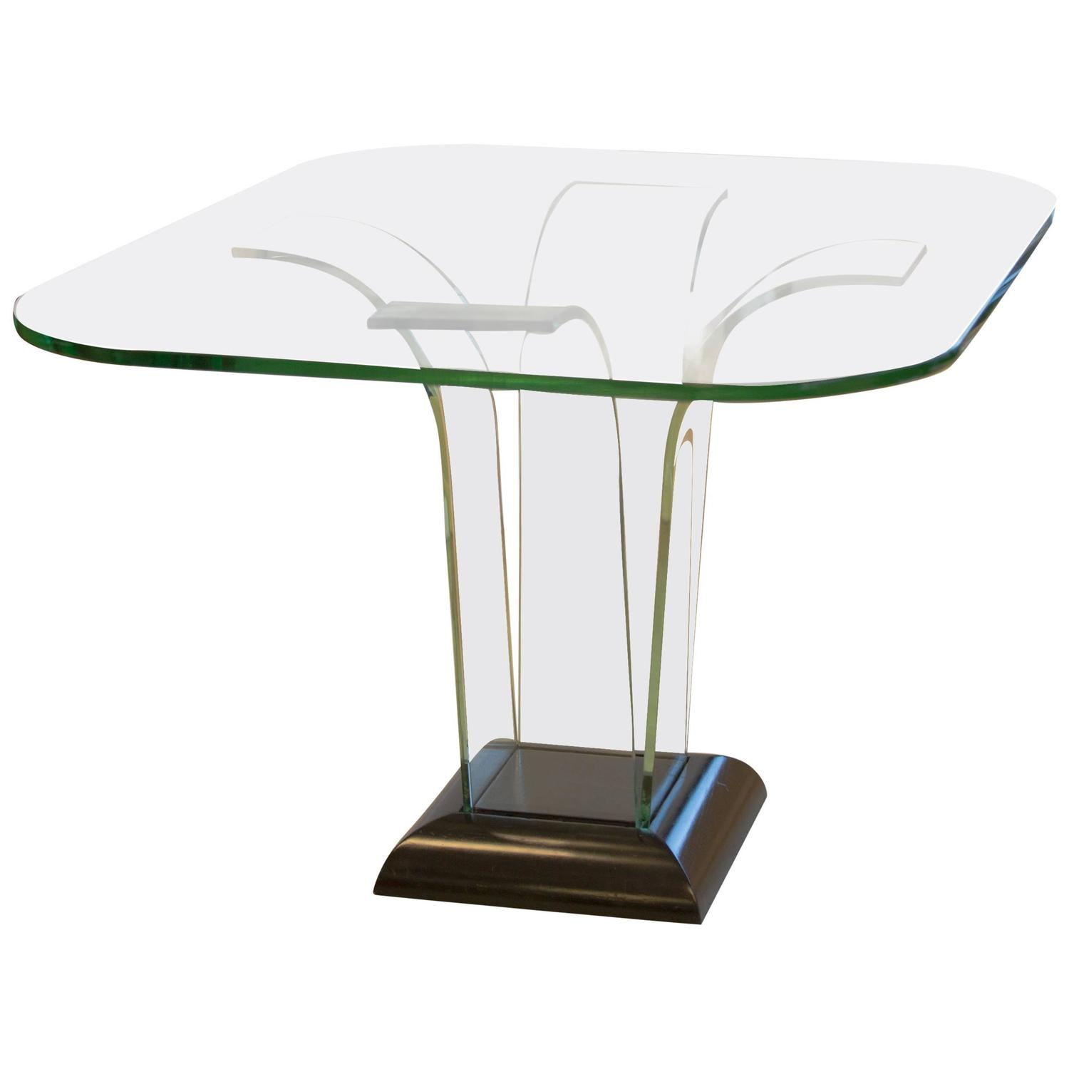 Center Table With Glass : Glass Center Table by Modernage For Sale at 1stdibs