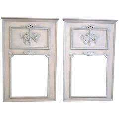 Pair of Vintage Trumeau Mirrors in Neoclassical Style