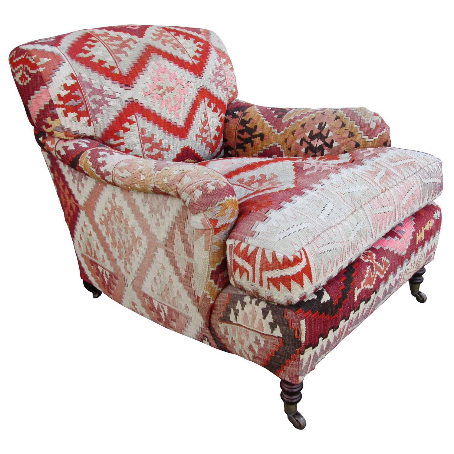 George Smith Kilim Armchair At 1stdibs