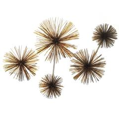 Large Urchin Pom Pom Wall Sculpture by C. Jere