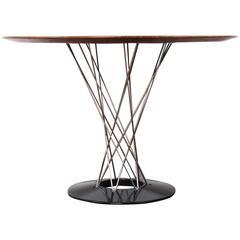 Cyclone Dining Table with Walnut Top by Isamu Noguchi