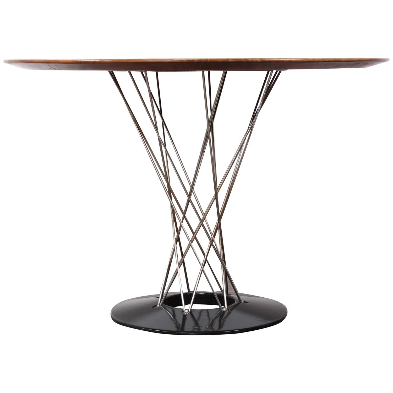 Cyclone Dining Table With Walnut Top By Isamu Noguchi At 1stdibs